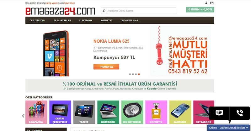 Emagaza24.com E-Ticaret Sitesi