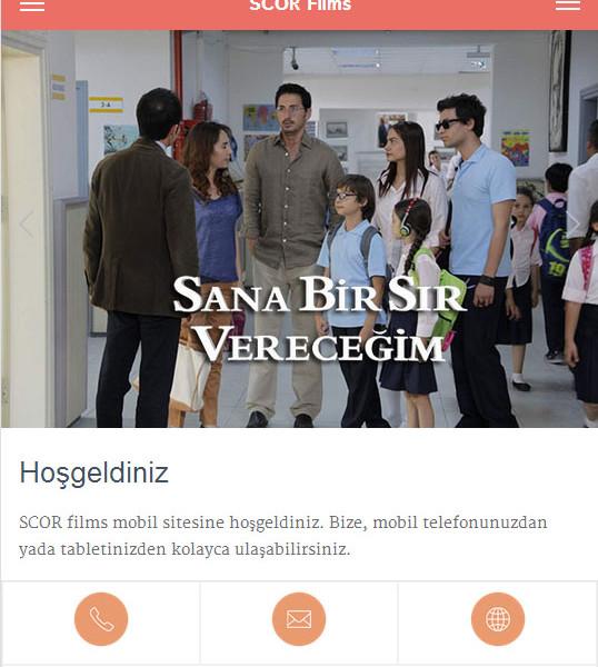 SCOR films mobile site