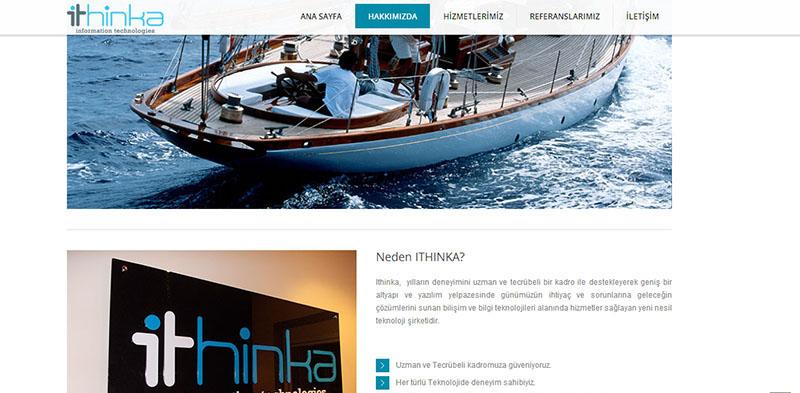 ITHINKA veritabanı yönetimi web site